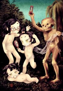 女の三世代と死
