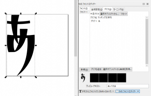 InkscapeのSVGフォントのプレビューがなぜか小さくなる